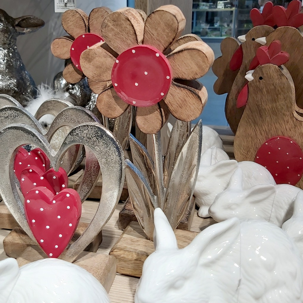 Herz Blume Deko Frühling